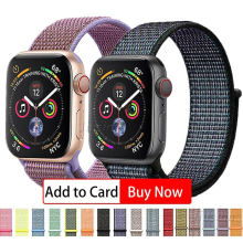 Nylon Soft Breathable Band For Apple Watch Series 4/3/2/1 Nylon Soft Breathable Strap 38/40mm 42/4mm for iWatch IOS Smartwatch(China)