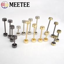 5pcs MEETEE DIY Bag Hardware Buckle Wheel for Handbag Repair Sewing Metalware Barbell Garment Accessories F1-29