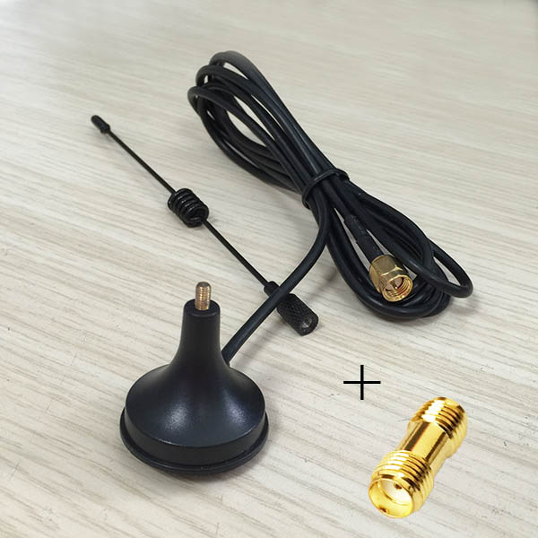 433Mhz radio antenna 3dbi magnetic base extension cable 1.5m SMA male + SMA female switch SMA female RF coax adapter coupler  цены