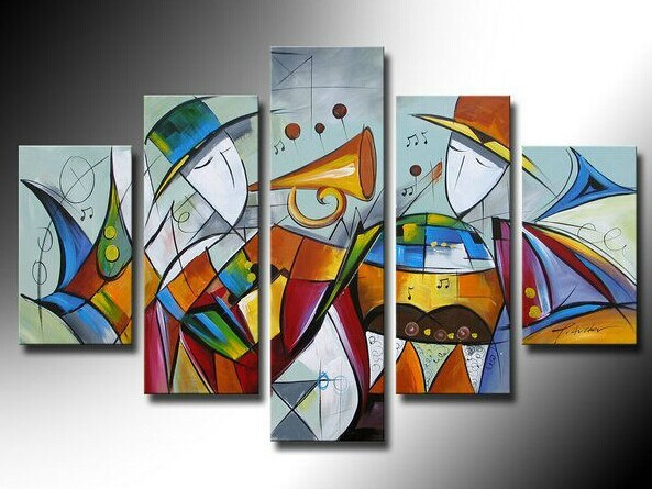 Handmade Oil Painting Abstract Music Picture On Canvas For Living Room Free Shipping Modern Painting Landscape Wall Art Pictures