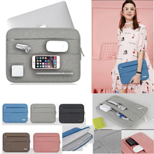 Laptop Accessories Men Women Nylon Notebook Sleeve Case For Mac 11 13 11.6 13.3 Macbook Air Pro Retina Laptop Sleeve Carry Bag цена