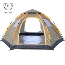 Wnnideo Instant Family CampTent 6 Person Large Automatic Pop Up Tents Waterproof for Outdoor Sports Camping Hiking Travel Beach