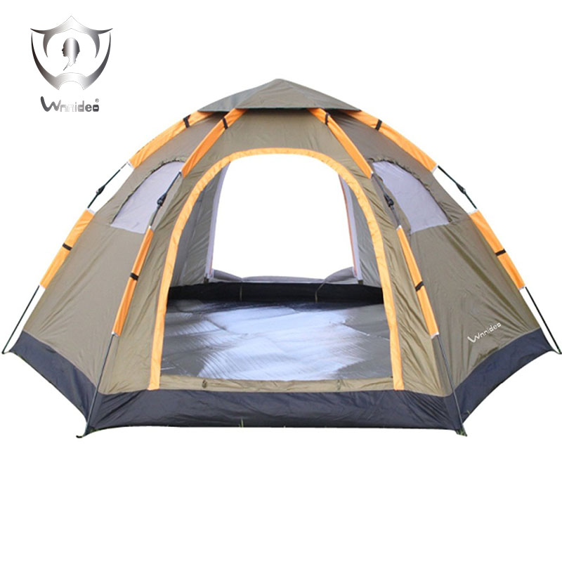 Wnnideo Instant Family Tent 6 Person Large Automatic Pop Up Tents Waterproof for Outdoor Sports Camping Hiking Travel Beach with high quality outdoor 2 person camping tent double layer aluminum rod ultralight tent with snow skirt oneroad windsnow 2 plus