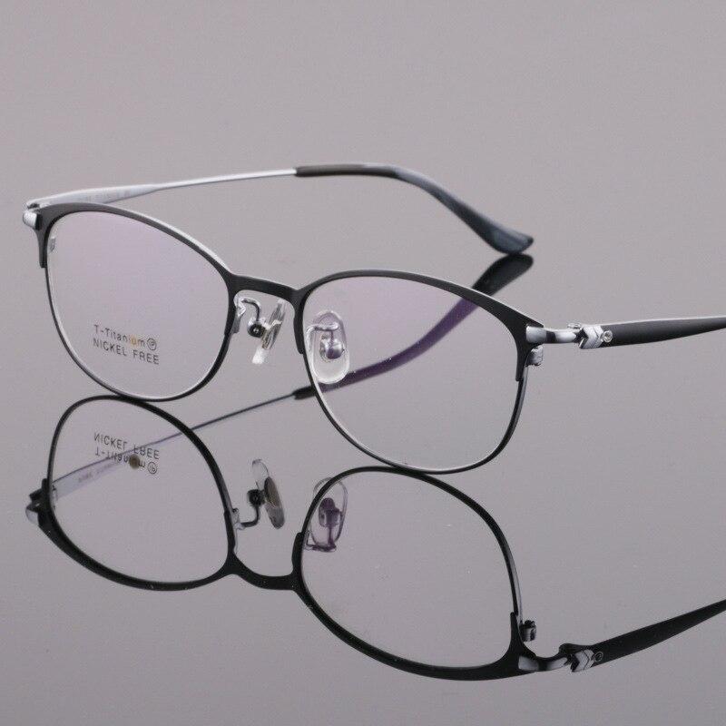 Reven Jate Spectacles Optical Fashion Titanium Eyeglasses Frame For Men Eyewear Full Rim Glasses With 3 Optional Colors 6646