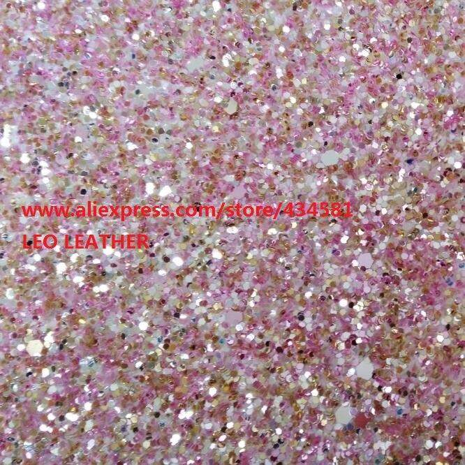 ROSA Chunky Glitter Tessuto In Pelle Sintetica per scarpe borse divano archi e Accessori FAI DA TE Tessuto PP977