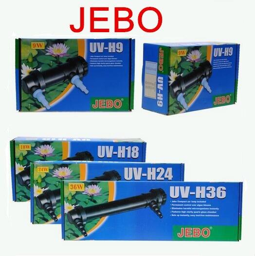 JEBO AC110-240V UV UVC 5 W-36 W acuario estanque UV esterilizador lámpara luz agua limpiador pecera ultravioleta filtro de Clarifier