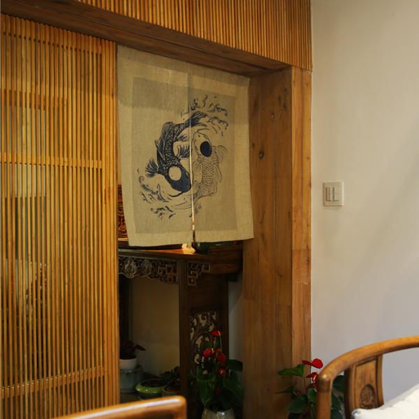Japanese Style Koi Fish Door Curtains Oceans2u Com