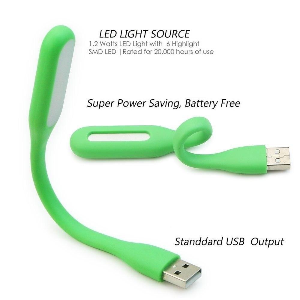 Yospern Book Light Mini USB LED Light 5V 1.2W Power Bank Reading Light Portable LED Lamp 9 colors USB Night Lights(1pcs) 3