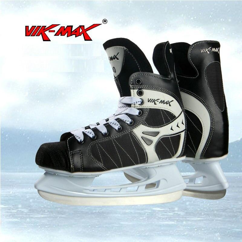 Prix pour VIK-MAX adulte hockey sur glace skate chaussures outlet pas cher hockey skate chaussures dentelle-up ice hockey skate chaussures avec livraison cadeaux