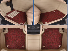 car floor mats leather foot rugs set pads for Alfa Romeo Boxster Cayenne cayman Bentley Arnage Flying Spur GT waterproof beige