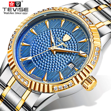 TEVISE Brand Fashion Casual Mechanical watch men luxury brand military wristwatches full steel relogio masculino