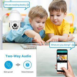 Image 4 - 2MP Wifi PTZ caméra extérieure 1080P 4X Zoom numérique humain détecter la vitesse dôme caméra bidirectionnelle Audio maison CCTV Surveillance IP caméra