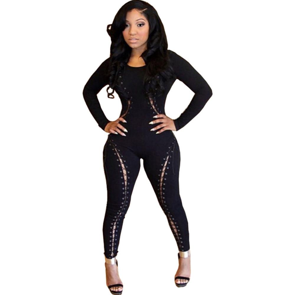 2015 New Arrival Sexy Fashion Bodysuit Black Full Long ...