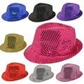 Envío gratis adultos total de lentejuelas negro / plata / rojo / azul / color de rosa / púrpura / de oro / jazz / danza sombreros funcionamiento de la etapa