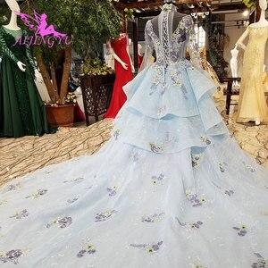 Image 2 - AIJINGYU فستان زفاف الدانتيل امرأة المشاركة الفاخرة خمر رخيصة صنع في الصين حجم كبير ثوب 2021 مواقع الزفاف