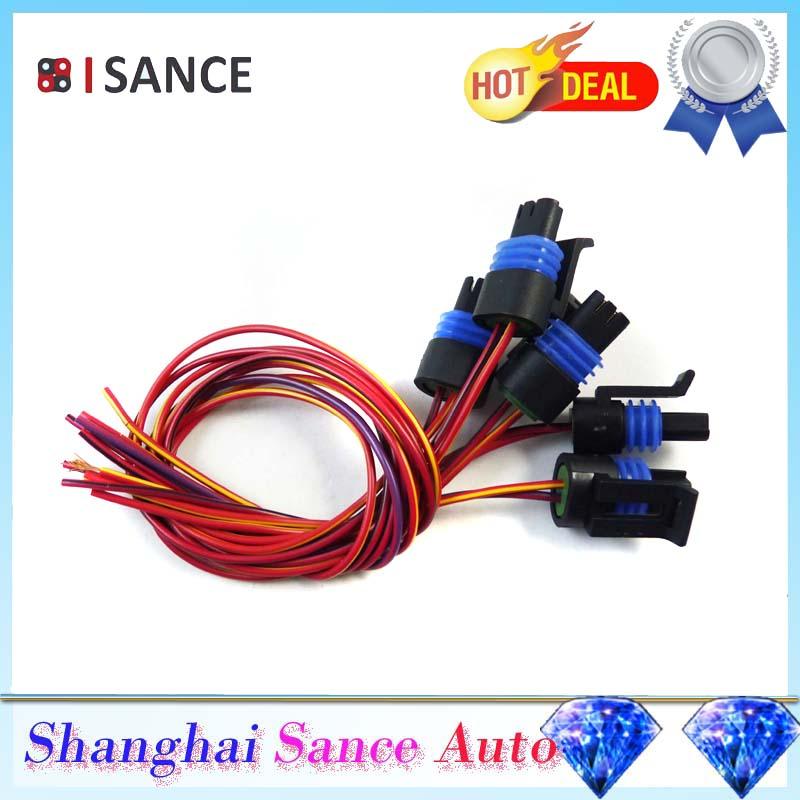 US $6 15 12% OFF|ISANCE Coolant Temperature Sensor Plug Connector Pigtail  12101899 88987993 PT1350 12046623 PT1798 For GMC LT1 LS1 Transmission-in
