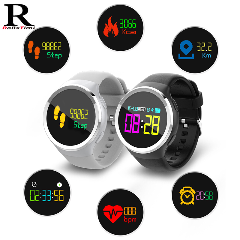 RollsTimi Smart Watch OLED Screen Fitness Clock Blood pressure IP68 Waterproof Activity Tracker Sports heart rate