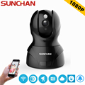 SUNCHAN High Quality 2.0 Megapixel 1080P 8XZoom IP Camera H.264 Wireless Supprt 64GB  1920*1080P Full HD WIFI IP CAM