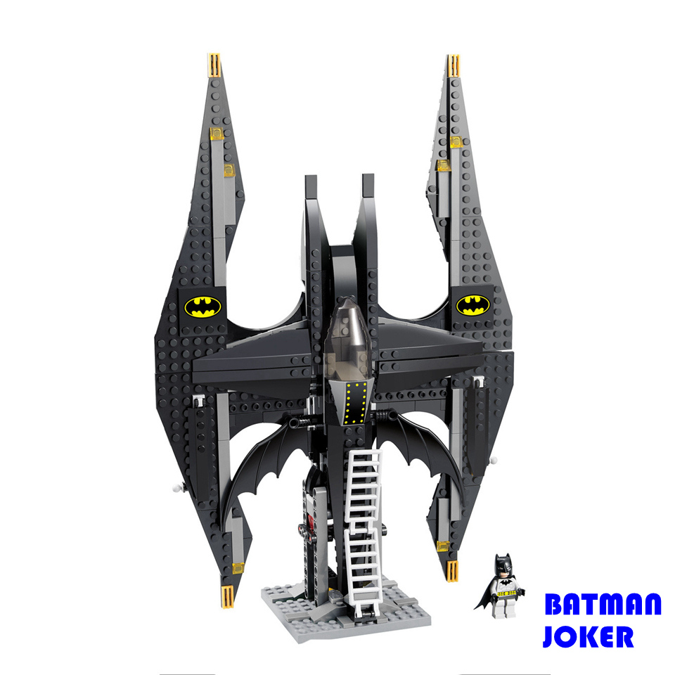 336pcs Super Heroes Batman Series Bat Fighter Model Compatible with Legoe Action figures Joker Building Blocks Bricks Toys Gift