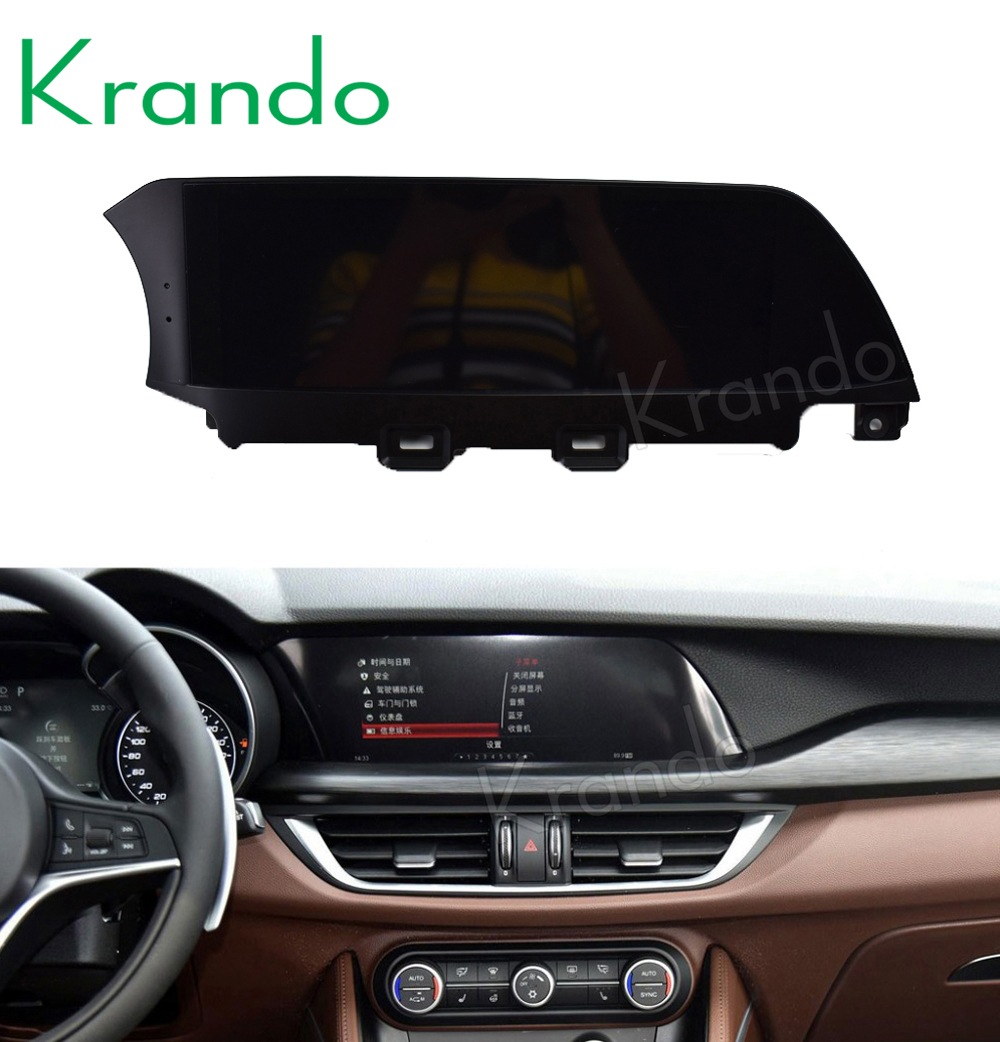 Krando Vertical screen android car dvd for Alfa Romeo Stelvio 2017~2018 screen navigation with gps system