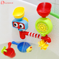 Lovely children kids toy gift funny portable bath tub toy water sprinkler system bathing toys waterproof in tub for baby play