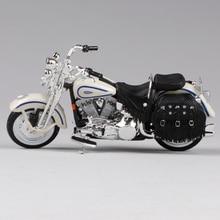 Maisto 1:18 harley beige motor mainan diecast 1997 flsts warisan springer motorbike model die-cast motor mainan 39360