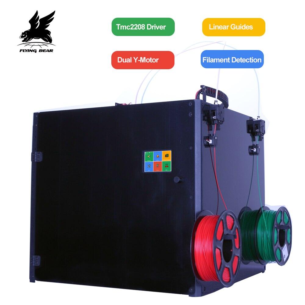 Nova Vresion Flyingbear Tornado 2 Pro grande Impressora 3d DIY Full metal Kit Precisão trilho Linear impressora 3d dupla extrusora