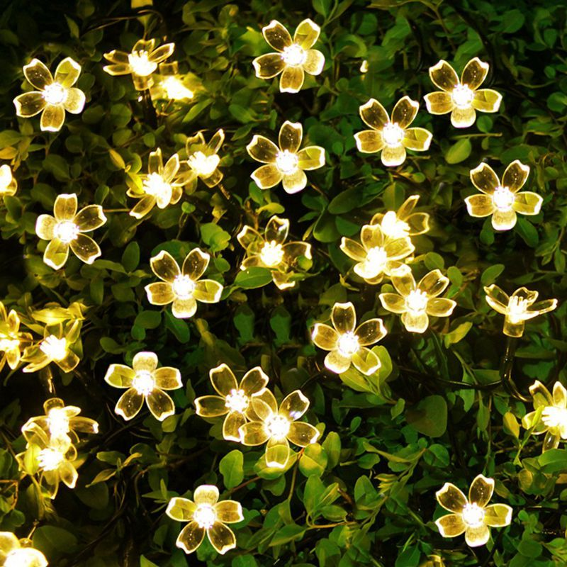 Lampu Solar LED String Lights 7M 50LED 22m 12m Dengan Cherry - Pencahayaan perayaan - Foto 3