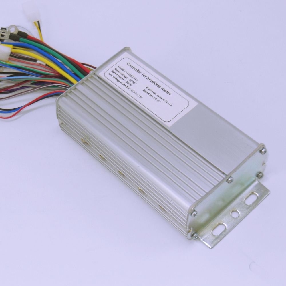 High Quality 48V 500W 32Amax BLDC Motor Controller Electric Bike Tricycle Controller Driver