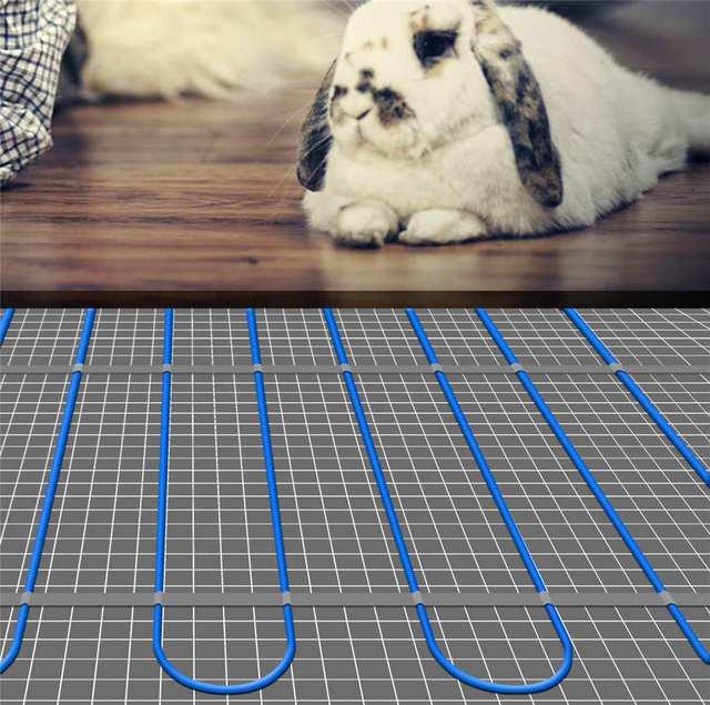 Elektrische vloerverwarming mat vloerverwarming systeem in badkamer ...