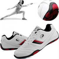 Homem profissional esgrima sapatos masculino esgrima tênis de treinamento de competição homem deslizamento-resistente leve tênis