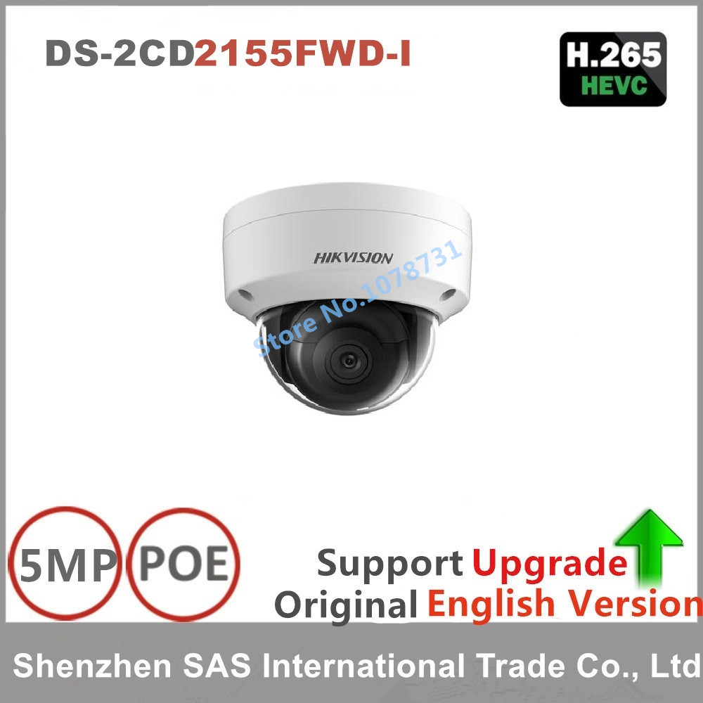 Hikvision Video Surveillance Camera DS 2CD2155FWD I 5MP Dome CCTV IP Camera H 265 IP67 1K10