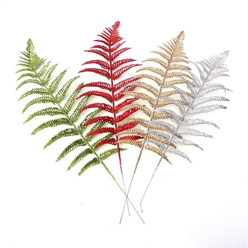 Рождество украшения 25 см Рождество цветочное оформление трава полые разряда класса моделирования поддельные цветок листьев ...