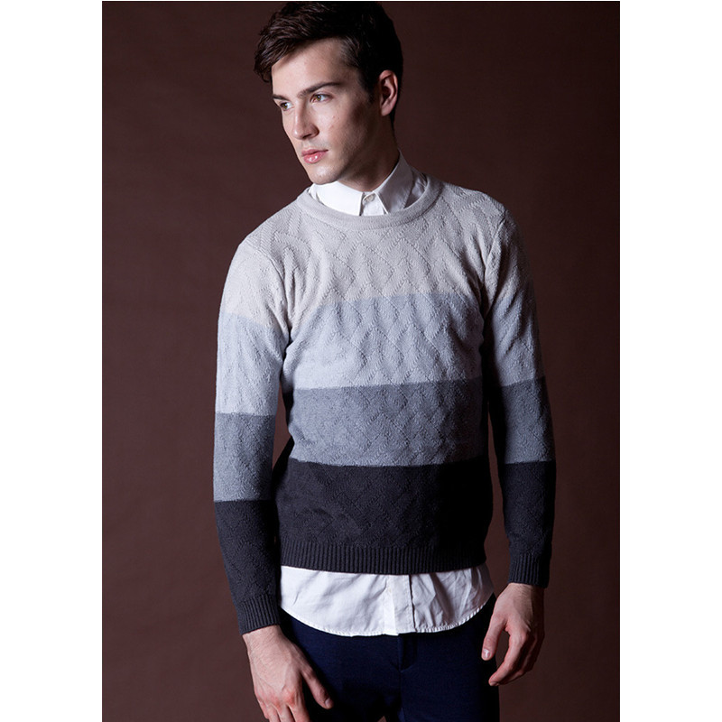 0ca6fdc79c771e Mens Striped Sweater Knitting Pattern Pullovers Thick Winter Warm Men Jumper  British Style O Neck Sweater Jumpers Moda Masculina-in Pullovers from Men s  ...