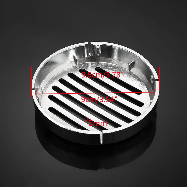 3 5inch Motorcycle Chrome ABS Round Slotted Grille Car Horn Cover Fir For Honda Cruiser in Covers Ornamental Mouldings from Automobiles Motorcycles