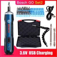 Bosch Go перезаряжаемый 3,6 В умный беспроводной шуруповерт мини-электроинструмент, 6 режимов Регулируемый Torques Отвертка наборы инструментов