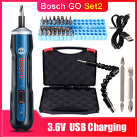 Bosch Go Rechargeable 3.6V Smart Cordless Screwdriver Mini Power Tool, 6 Modes Adjustable Torques Screwdriver Tool Kits