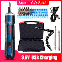 Bosch Go Rechargeable 3.6V Smart Cordless Screwdriver Mini Power Tool, 6 Modes Adjustable Torques Screwdriver Tool Kits