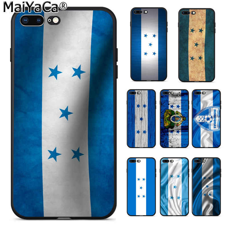 MaiYaCa Honduras Flag Popular Custom TPU Phone Cover for Apple iPhone 8 7 6 6S Plus X XS MAX 5 5S SE XR Cover