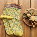 6 pares = 1 lote de La Vendimia nueva llegada del otoño y el invierno mediados de tubo MF8125341 casual algodón mujeres calcetines Envío Gratis
