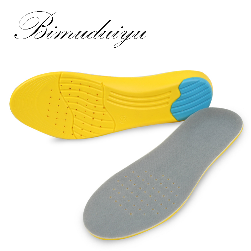 BIMUDUIYU Women Men Shoes Pad Velvet + stretch PU Breathable Absorb Sweat Shockproof Silicone Running Basketball Insoles ultra soft memory foam pu sports insoles women or men shoes pad gel orthopedic thickened flatfoot absorb sweat military insoles
