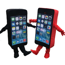 iphone costume. new 100% real picture shoot cell phone mascot costume mobile iphone adult size( iphone