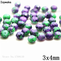 Isywaka 3X4mm 30,000pcs Rondelle Austria faceted Crystal Glass Beads Loose Spacer Round Beads for Jewelry Making NO.13