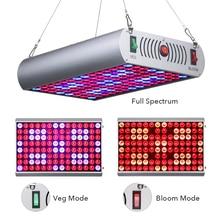 Venesun 300W LED Grow Light Panel Full Spectrum Plant Growing Bulbs Fixture with Veg/Bloom/Full Switch for Indoor Plants