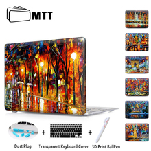 "MTT Crystal Hard Cover For Apple Macbook Air 11"" 12'' 13"" Case For Mac book Pro 13"" 15"" touch bar Pro Retina 13 15 Eiffel Tower"
