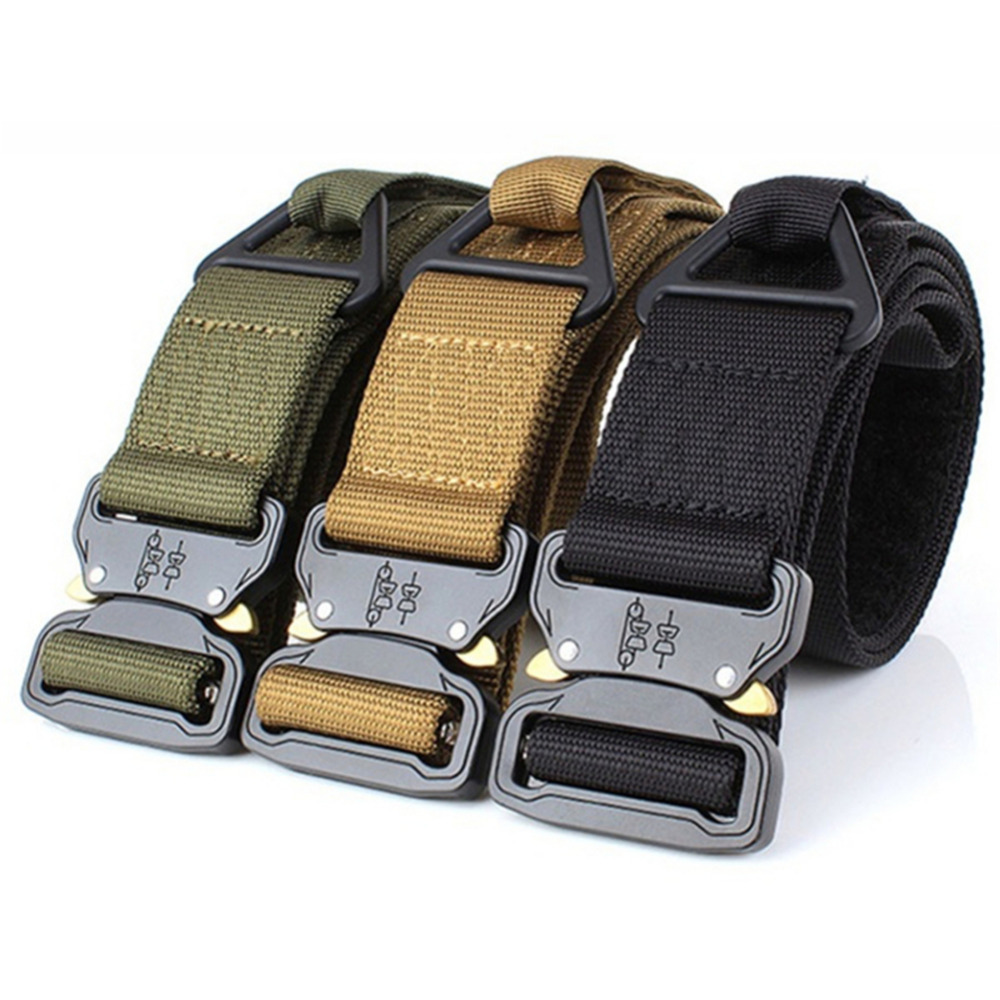 125cm* 3.8cm Mens Nylon Tactical Belt Military Belt Outdoor multifunctional Training Belt High Quality Strap Ceintures Waistband