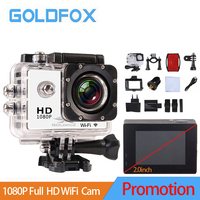 2018 Promotion 2.0 inch 1080P Full HD WiFi Action Camera 30M Go Waterproof Pro Bike Helmet Cam Mini video camera