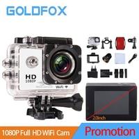2018 Promotion 2.0 inch 1080P Full HD WiFi Action Camera 30M Go Waterproof Pro Bike Helmet Cam Mini video camera