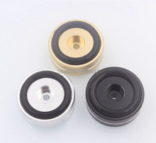 1PC Rubber Ring Shock Absorber Top Aluminum Machine Foot Amplifier Feet Speaker Turntable Feet 40*15MM 1Piece Free Shipping