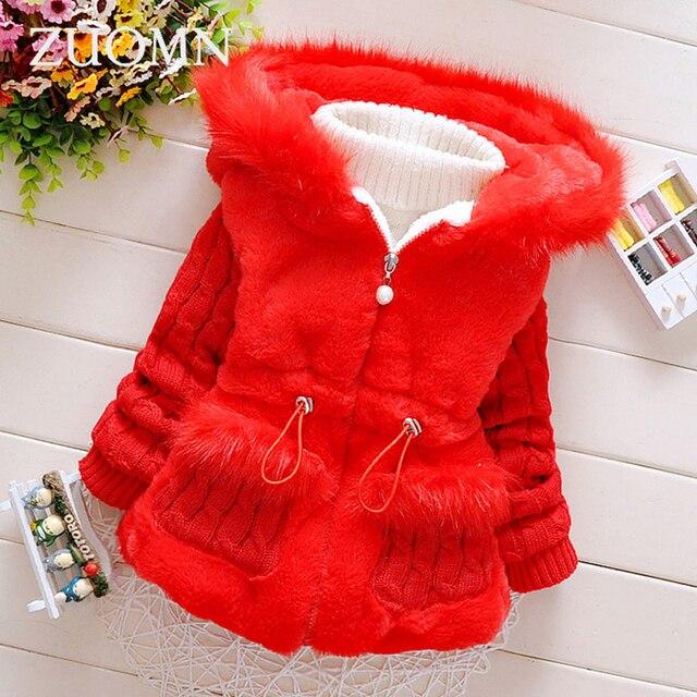 2ece6bee5095 Winter Baby Girls Cotton Jackets Warm Lolita Style Coat Kids Infant ...